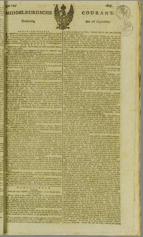 Middelburgsche Courant 1817-09-18