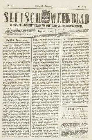 Sluisch Weekblad. Nieuws- en advertentieblad voor Westelijk Zeeuwsch-Vlaanderen 1873-08-12