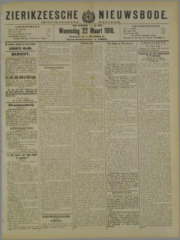 Zierikzeesche Nieuwsbode 1916-03-22