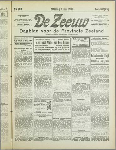 De Zeeuw. Christelijk-historisch nieuwsblad voor Zeeland 1930-06-07