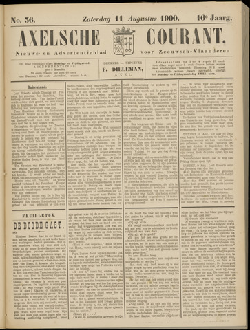 Axelsche Courant 1900-08-11