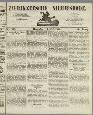 Zierikzeesche Nieuwsbode 1852-05-17
