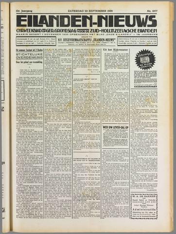 Eilanden-nieuws. Christelijk streekblad op gereformeerde grondslag 1939-09-23