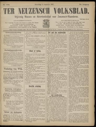 Ter Neuzensch Volksblad. Vrijzinnig nieuws- en advertentieblad voor Zeeuwsch- Vlaanderen / Zeeuwsch Nieuwsblad. Nieuws- en advertentieblad voor Zeeland 1917-08-04