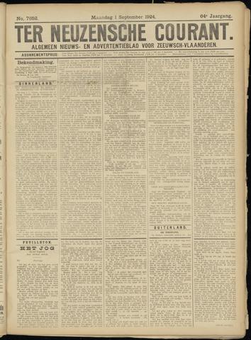 Ter Neuzensche Courant. Algemeen Nieuws- en Advertentieblad voor Zeeuwsch-Vlaanderen / Neuzensche Courant ... (idem) / (Algemeen) nieuws en advertentieblad voor Zeeuwsch-Vlaanderen 1924-09-01