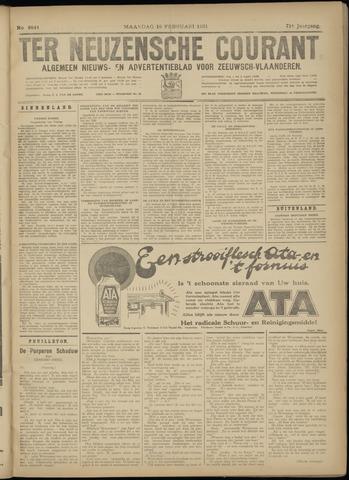 Ter Neuzensche Courant. Algemeen Nieuws- en Advertentieblad voor Zeeuwsch-Vlaanderen / Neuzensche Courant ... (idem) / (Algemeen) nieuws en advertentieblad voor Zeeuwsch-Vlaanderen 1931-02-16