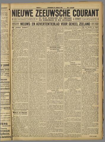 Nieuwe Zeeuwsche Courant 1924-01-10