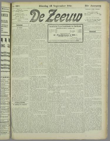 De Zeeuw. Christelijk-historisch nieuwsblad voor Zeeland 1921-09-13