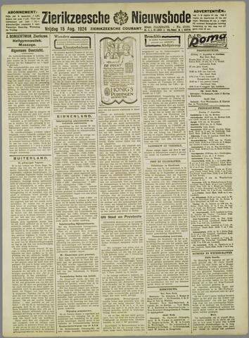 Zierikzeesche Nieuwsbode 1924-08-15