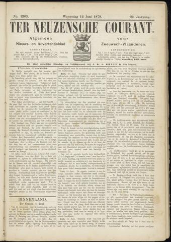 Ter Neuzensche Courant. Algemeen Nieuws- en Advertentieblad voor Zeeuwsch-Vlaanderen / Neuzensche Courant ... (idem) / (Algemeen) nieuws en advertentieblad voor Zeeuwsch-Vlaanderen 1878-06-12