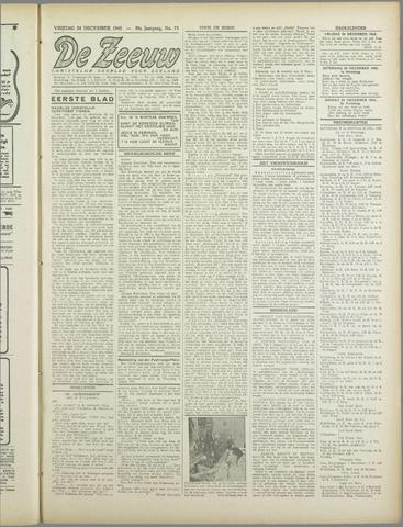 De Zeeuw. Christelijk-historisch nieuwsblad voor Zeeland 1943-12-24