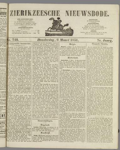 Zierikzeesche Nieuwsbode 1851-03-06