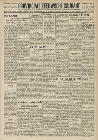 Provinciale Zeeuwse Courant 1947-02-13