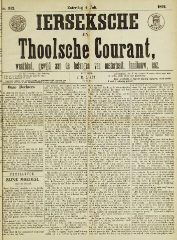 Ierseksche en Thoolsche Courant 1891-07-04