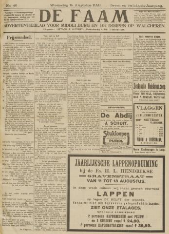 de Faam en de Faam/de Vlissinger 1923-08-15