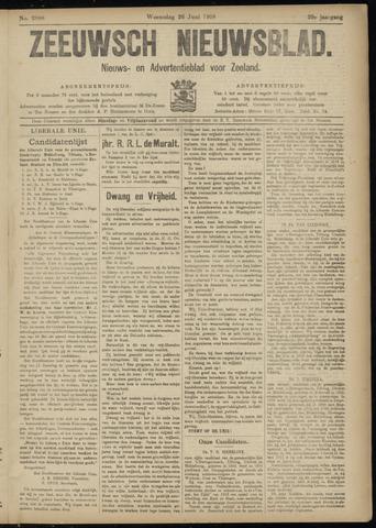 Ter Neuzensch Volksblad. Vrijzinnig nieuws- en advertentieblad voor Zeeuwsch- Vlaanderen / Zeeuwsch Nieuwsblad. Nieuws- en advertentieblad voor Zeeland 1918-06-26