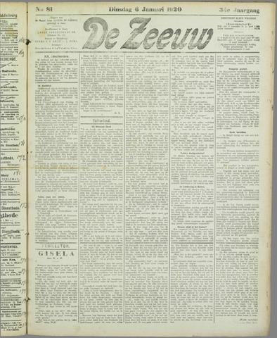 De Zeeuw. Christelijk-historisch nieuwsblad voor Zeeland 1920-01-06