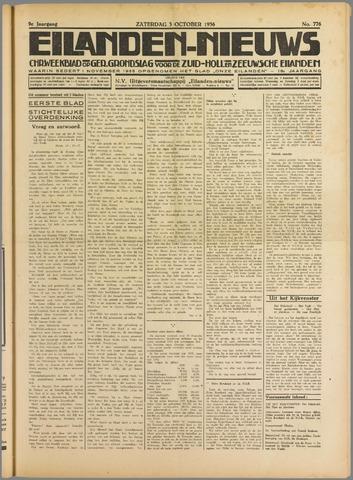 Eilanden-nieuws. Christelijk streekblad op gereformeerde grondslag 1936-10-03