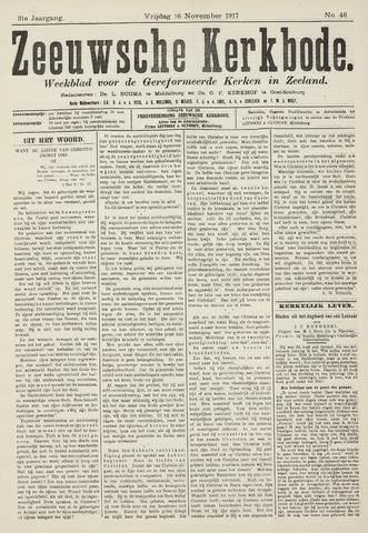 Zeeuwsche kerkbode, weekblad gewijd aan de belangen der gereformeerde kerken/ Zeeuwsch kerkblad 1917-11-16