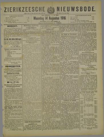 Zierikzeesche Nieuwsbode 1916-08-14