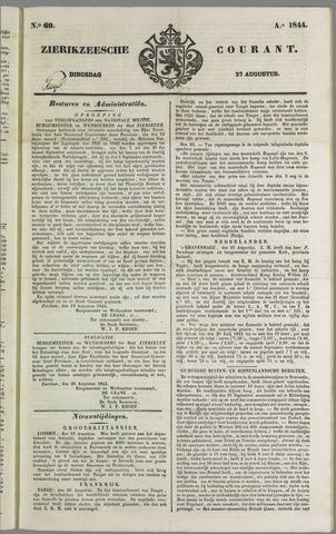 Zierikzeesche Courant 1844-08-27