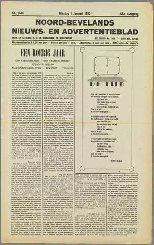 Noord-Bevelands Nieuws- en advertentieblad 1952