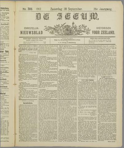 De Zeeuw. Christelijk-historisch nieuwsblad voor Zeeland 1912-09-28