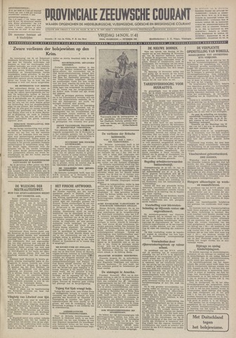 Provinciale Zeeuwse Courant 1941-11-14