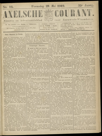 Axelsche Courant 1919-05-28