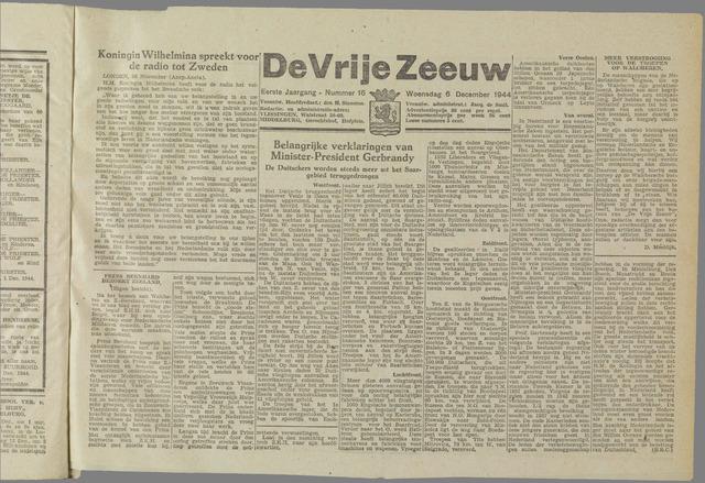 de Vrije Zeeuw 1944-12-06