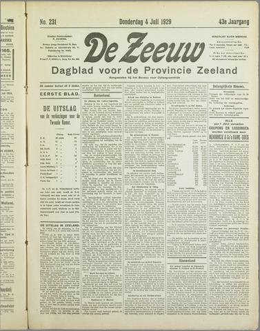 De Zeeuw. Christelijk-historisch nieuwsblad voor Zeeland 1929-07-04