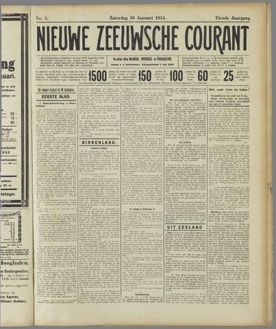Nieuwe Zeeuwsche Courant 1914-01-10