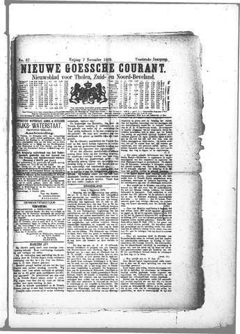 Nieuwe Goessche Courant 1879-11-07