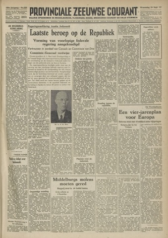 Provinciale Zeeuwse Courant 1947-09-24