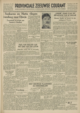Provinciale Zeeuwse Courant 1949-07-06