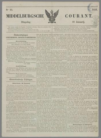 Middelburgsche Courant 1854-01-31