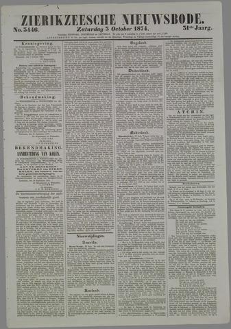 Zierikzeesche Nieuwsbode 1874-10-03