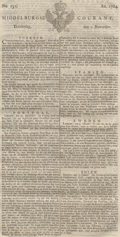 Middelburgsche Courant 1764-11-01