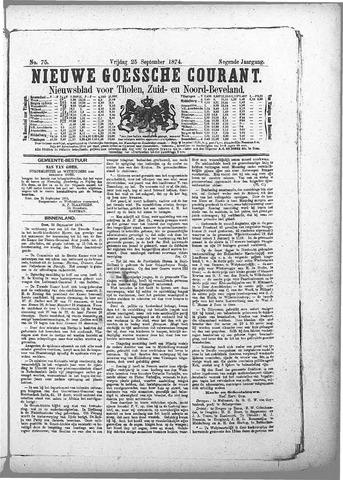 Nieuwe Goessche Courant 1874-09-25