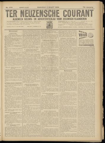 Ter Neuzensche Courant. Algemeen Nieuws- en Advertentieblad voor Zeeuwsch-Vlaanderen / Neuzensche Courant ... (idem) / (Algemeen) nieuws en advertentieblad voor Zeeuwsch-Vlaanderen 1934-03-05