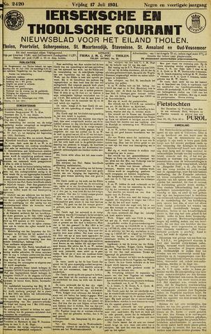 Ierseksche en Thoolsche Courant 1931-07-17