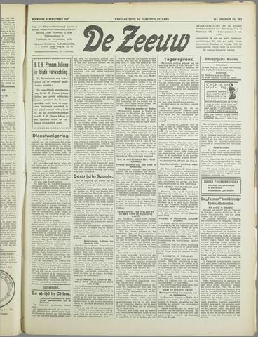 De Zeeuw. Christelijk-historisch nieuwsblad voor Zeeland 1937-09-08