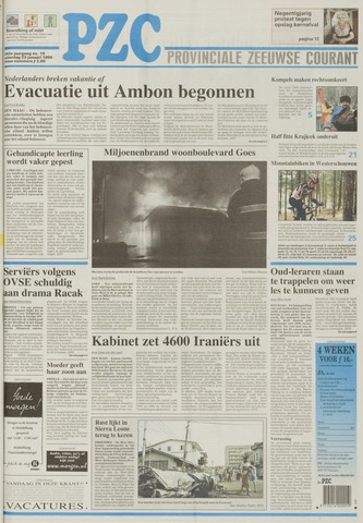 Provinciale Zeeuwse Courant 1999-01-23