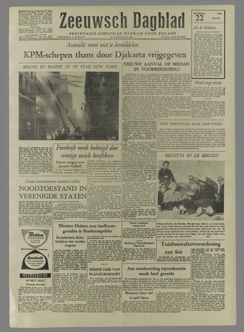 Zeeuwsch Dagblad 1958-03-22