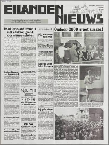 Eilanden-nieuws. Christelijk streekblad op gereformeerde grondslag 2000-08-29