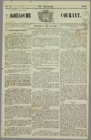 Goessche Courant 1857-01-22