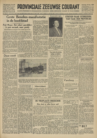 Provinciale Zeeuwse Courant 1949-11-19