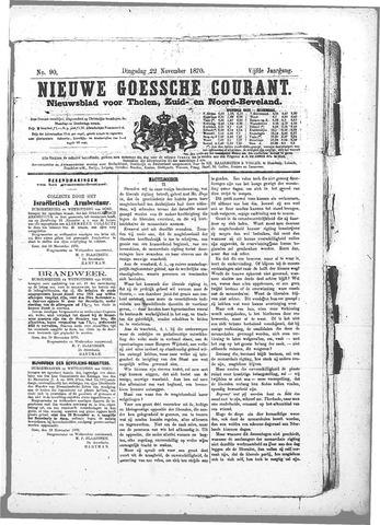 Nieuwe Goessche Courant 1870-11-22