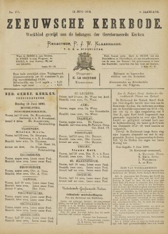 Zeeuwsche kerkbode, weekblad gewijd aan de belangen der gereformeerde kerken/ Zeeuwsch kerkblad 1890-06-14