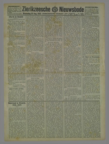 Zierikzeesche Nieuwsbode 1923-08-22